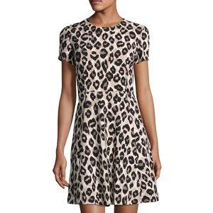 Eliza J Leopard Print Fit & Flare Dress
